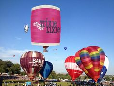 The TrixieLixie balloon takes off at the Bristol Balloon Festival over the weekend. #sewing #haberdashery #seams #balloon #bristol #funnypics