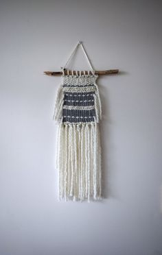 Hand Woven Wall Hanging by ThreeAtHome on Etsy