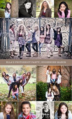 Teen Party... this would be a cute idea for all the siblings (with more grown up photos)   Nancy you should so do this!!