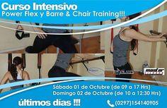 Sab 1 y Dom 2 de octubre 2016 Comodoro Rivadavia Taller Power Flex y Barre & Chair Training ULTIMOS LUGARES!