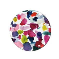 Bluebellgray Abstract Medium Round Tray - Bluebellgray's iconic Abstract design brings splashes of painterly colour to the dining table in this beautifully hand-crafted birch wood tray by Åry.