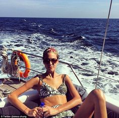 Overkill? The model teased fans with yet more photos of her impressive holiday to the Mal...