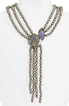 Alexis Bittar 'Elements - Phoenix' Reversible Shell Pearl Necklace | Nordstrom