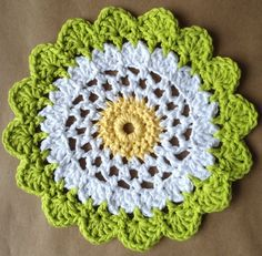 Moonflower Dishcloth