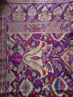 Antique Balinese silk songket ceremonial textile. #balisongket #antiquetextile #indonesianantique  www.kulukgallery.com