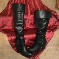 ELLASANDRA~RAMPAGE BOOTS Whatever the Mood~New ?? Very Sexy Over the Knee or to the Knee Fits more like an 8 Rampage Shoes Heeled Boots