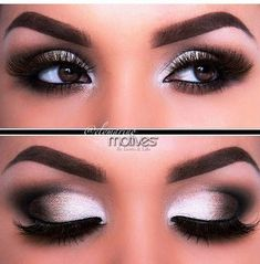 Black and white makeup for brown eyes