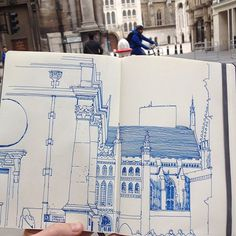 #guildhall #london #architecture #martinparr #drawing #illustration #pen #ink #sketch #sketchbook #doodle #city #busy #reportage #urbanart #urbansketch #buildings