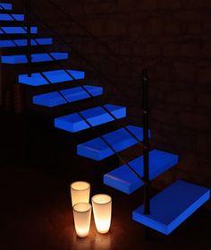 Photoluminescent Glass Stairs