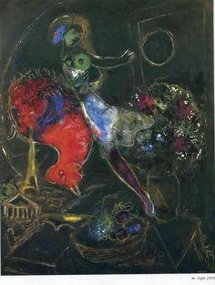 Марк Шагал -  Ночь  (1953) - Открыть в полный размер