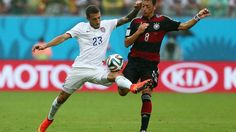 2014 FIFA World Cup™ - Photos - FIFA.com  Fabian Johnson of the United States competes for the ball with Mesut Oezil of Germany
