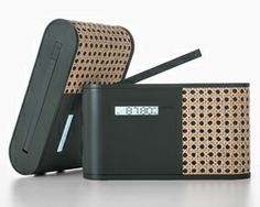 woven rattan smart radio by mathieu lehanneur for lexon