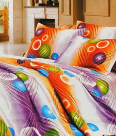 Valtellina Jazzy Printed Polyester Double Bed Sheet - Loved it coz it Brings Fun, Frolic & Jazz to my Home :)