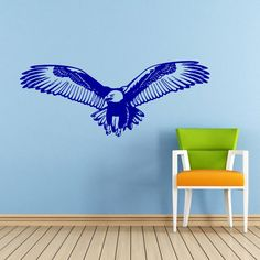 Eagle Wall Decal Bird of Prey Bald Eagle Head Hawk Flying Wings Decals Wall Vinyl Sticker Interior Home Decor Art Wall Bedroom Mural SV5998 by SuperVinylDecal on Etsy https://www.etsy.com/listing/195695742/eagle-wall-decal-bird-of-prey-bald-eagle