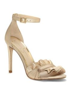 Jessica Simpson Women's Silea High Heel - Gold - 6.5M