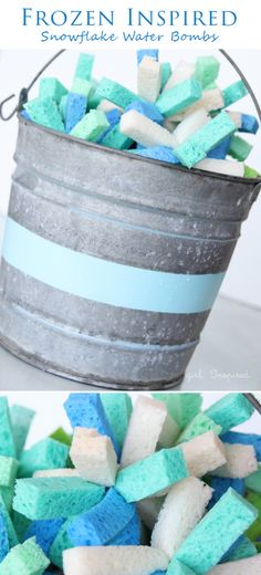 """Snowflake"" Water Bombs for Frozen in Summer Birthday Party Ideas"
