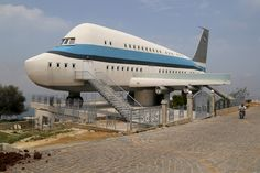 An airplane house in the village of Miziara, Lebanon, on May 12, 2015. Miziara prides itself on building residential homes that resemble ancient Greek temples and Egyptian ruins, or this one, built in the shape of an Airbus A380