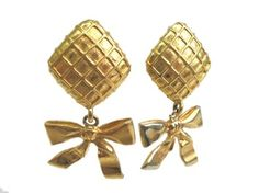CHANEL Ribbon Clip Earrings Metal. Get the lowest price on CHANEL Ribbon Clip Earrings Metal and other fabulous designer clothing and accessories! Shop Tradesy now