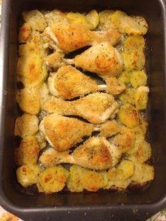 Pollo al forno (ricetta secondo piatto) Pollo Chicken, No Salt Recipes, Chicken Recipes, Cooking Recipes, Fusilli, Prosciutto, Frittata, Involtini, Biscotti