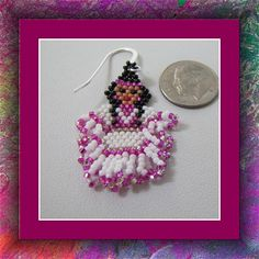 Indian Princess Earrings Beadwoven Seed by JewelryDesignsbyDee