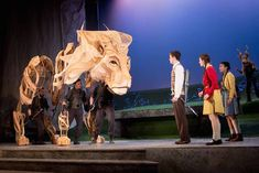 Aslan puppet - The Lion the Witch and the Wardrobe for the Birmingham REP Theatre. Puppets designed by Jo Lakin and Mervyn Milllar for Significant Object. photo by Graeme Braidman