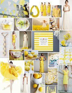 Yellow and Navy Wedding Inspiration photo via Budget Savvy Bride Wedding Bells, Our Wedding, Dream Wedding, Wedding Color Schemes, Wedding Colors, Mellow Yellow, Bright Yellow, Blue Yellow, Purple