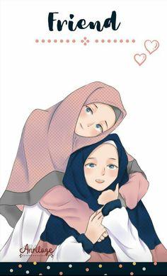 #animemuslim #friendwallpaper #hijabwallpaper