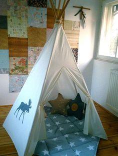 #pacztipi #pacz #teepee #tipi #wigwam #tent #deere #crochet #pillows #radosnafabryka #handmade Cotton Fabric, Toddler Bed, Furniture, Home Decor, Homemade Home Decor, Cotton Textile, Home Furnishings, Interior Design, Home Interiors