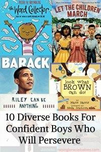 10 diverse books for confident boys who will persevere.
