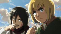 Mikasa, Mikasa, Mikasa. Eren And Mikasa, Armin, Attack On Titan Season 2, Manga, Ghibli, Kawaii, Seasons, Google Search, Shingeki No Kyojin