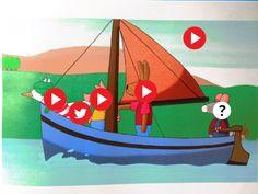 kikker en het water interactieve praatplaat. klik een pijltje aan.......