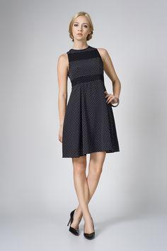 Weronika czarne groszki www.fajne-sukienki.pl Cold Shoulder Dress, Dresses, Fashion, Vestidos, Moda, Fashion Styles, Dress, Fashion Illustrations, Gown