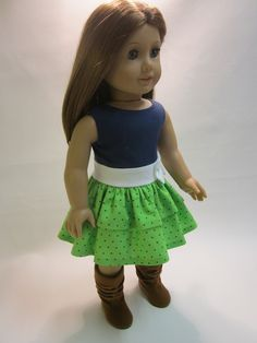 This outfit is so cute! My dolls would just love it for school . . .