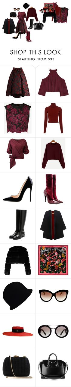 Яркая зима by vicasan on Polyvore featuring мода, A.L.C., Ted Baker, W118 by Walter Baker, Givenchy, Burberry, Chicwish, Balenciaga, Rupert Sanderson and Serpui