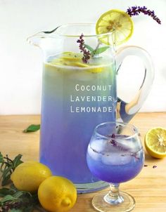 Coconut Lavender Lemonade!