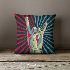 Rock and Roll Pillow Rock n Roll Pillow Rock by wfrancisdesign