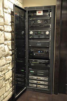 Home theater equipment rack | CEDIA Home Theater Installation