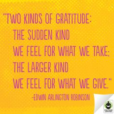 Can you think of any other kinds of gratitude?