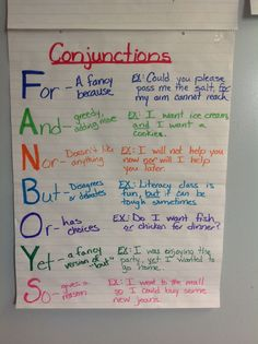 Conjunctions - FANBOYS