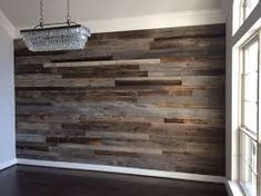 Image result for reclaimed wood accent wall