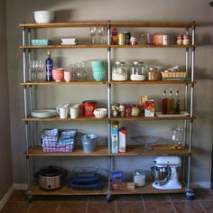 Just a Darling Life: a look into my house: kitchen shelving