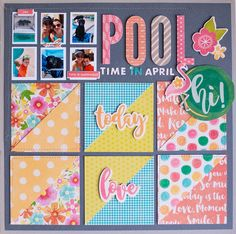 POOL TIME IN APRIL by Rebecca Keppel - Stamp & Scrapbook Expo blog