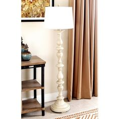 Shop for Abbyson Living Turnwood Antique White Floor Lamp. Get free shipping at Overstock.com - Your Online Home Decor Outlet Store! Get 5% in rewards with Club O!
