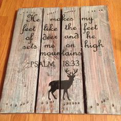 Hand painted deer hunters wood pallet sign by BnJcountrycreations