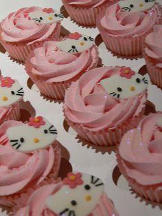 Hello Kitty Cupcakes by Kimmy Loves Cake, via Flickr