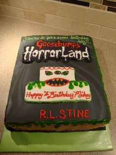 Goosebumps Book Cake By alishah84 on CakeCentral.com