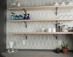 Whether you want to make a bold statement in your kitchen or your living room fireplace is in dire need of a face lift, Handpainted tile can be a unique… Fireclay Tile, Small Tiles, Wall Installation, Living Room With Fireplace, Tile Design, Kitchen Organization, Your Space, Home Kitchens, Hand Painted