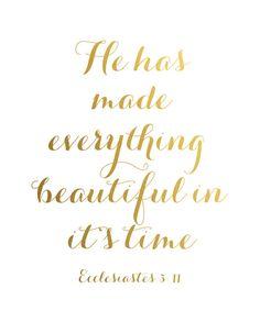 Bible Verse Print Gold Art Scripture Print Gold Gold by ArteeCor