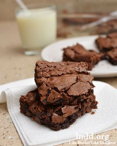 The best brownies in the world. You'll come back to this recipe again and again. #lmldfood
