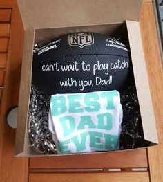 Pregnancy Announcement Gift Best Dad Ever by LoveAcrossTheMiles